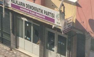 HDP Akhisar İlçe binasına saldırı