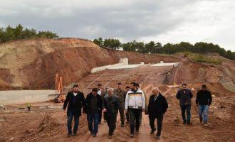 Kaymakam Peker, Gürdük Barajı çalışmalarını inceledi