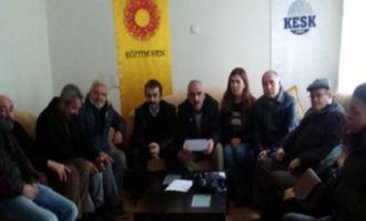 KESK bileşenleri Akhisar'da Terörü Kınadı