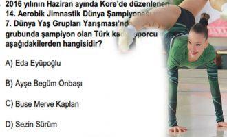 KPSS sınavında Akhisarlı sporcu soruldu!