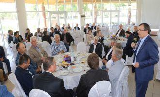 Muhtarlar, Milletvekili Aydemir ve Başkan Hızlı ile buluştu