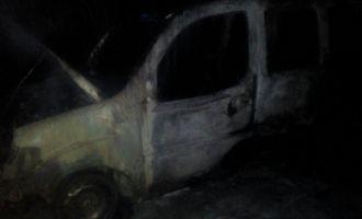 Seyir halindeki araç yanarak kül oldu