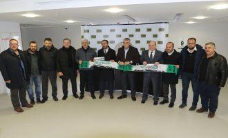 Spor Toto Teşkilat Başkanı Akhisar Belediye Stadyumunu ziyaret etti