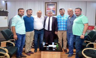 Tuncay Bilen ve ekibi Esnaf Kefalet ve Ziraat Odasını ziyaret etti