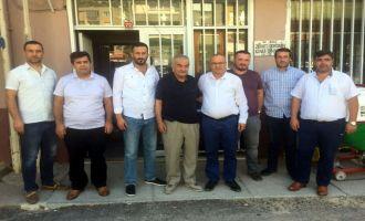 Tuncay Bilen ve ekibi Kırkağaç Ziraat Odasını ziyaret etti