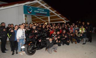 Türk Chopper Manisa Motosiklet Kulübü'nden Down Cafe'ye ziyaret turu