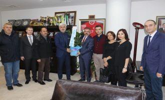 Türk Eğitim-Sen Akhisar teşkilatından, Başkan Hızlı'ya ziyaret