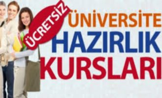 Ücretsiz Üniversiteye Hazırlık Kursları Açılıyor