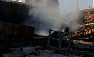 Ulucami Mahallesi'ndeki yangın korkuttu