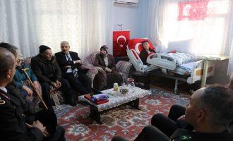 Zeytin Dalı Harekatı Gazisi Işık'a Vali'den ziyaret