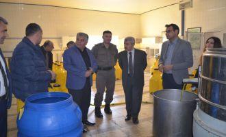 Zeytin üreticileri ve işletmelerine sürpriz ziyaret