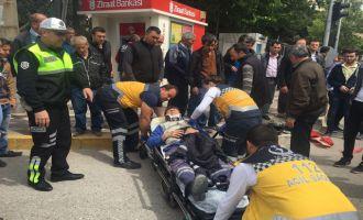 Zeytinliova kavşağında kaza 1 yaralı