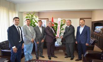 Ziraat Odası Başkanı Akbuğa'dan Kaymakam Sabit Kaya'ya Ziyaret