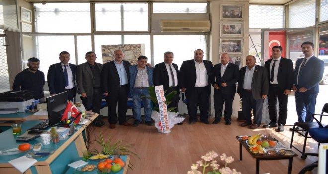 Ziraat Odası Başkanı Akbuğa'dan Esnaf Odalarına Ziyaret