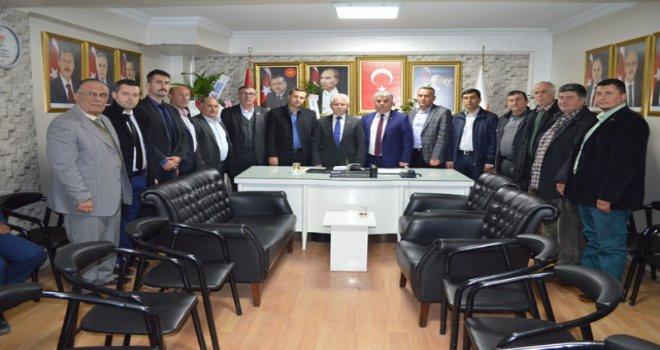 Ziraat Odasından AK Parti ilçe başkanı Sayın'a hayırlı olsun ziyareti